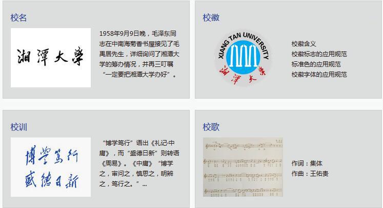 湘潭大学校名校训校徽校歌